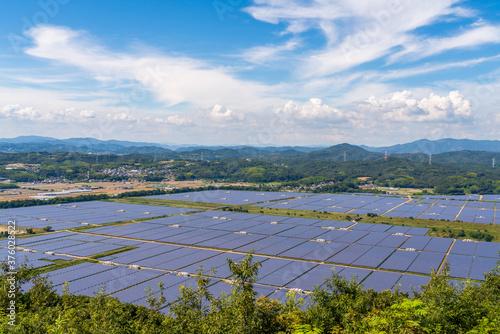 Obraz na plátně 日本の巨大な太陽光発電設備