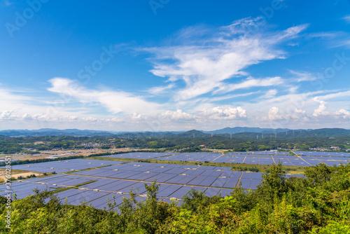Fotografie, Obraz 日本の巨大な太陽光発電設備