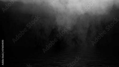 Fototapeta Mystic fire smoke on abstract background