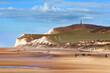 canvas print picture - Cap Gris-Nez vu de la plage de Wissant, Pas-de-Calais -France
