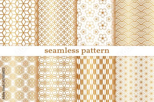 Photo Gold seamless pattern