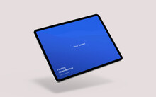 Floating Tablet Mockup | Fully Editable File, Replaceable Screen, Separated Shadow And Background