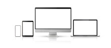 Computer Displays On White Background