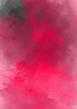 Textural Background For Creativity. Colorful Pink Watercolor Smoke On A Black Isolated Background. Background From The Smoke Of Vape