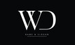 WD, DW, W, D Abstract letters logo monogram