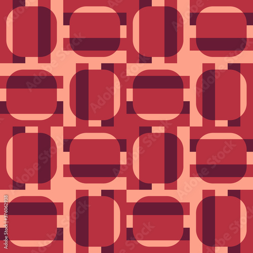 Geometric striped pattern Canvas Print