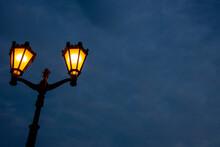 A Bright Yellow Lantern Agains...