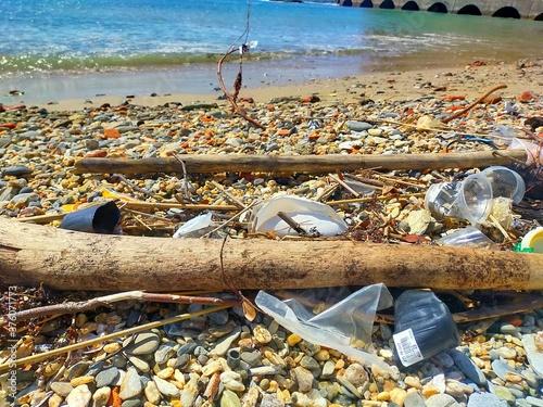 Fototapeta 海洋プラスチック