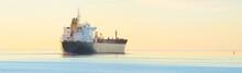 Large Cargo Ship Sailing Away ...