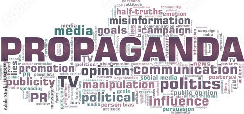 Papel de parede Propaganda vector illustration word cloud isolated on a white background