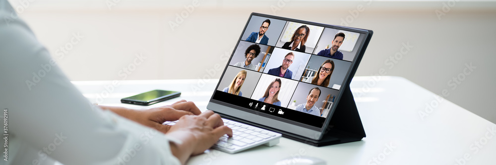 Fototapeta Online Video Conference Business Interview Call