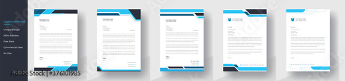 Fotomural Modern Creative & Clean business style letterhead bundle of your corporate project design