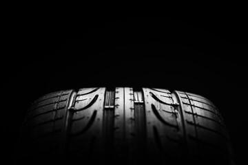 High-performance Sport Summer Car Tire Close-up