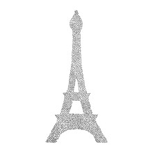 Eiffel Tower Dot Silhuette Isolated Icon. Vector Illustration Eps 10