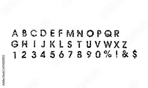 Photo Broken black alphabet icon. Vector illustration eps 10