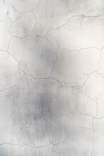 Blank Cracked Concrete Wall Wh...