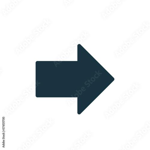 Slika na platnu right arrow icon