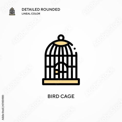 Fotografia Bird cage vector icon