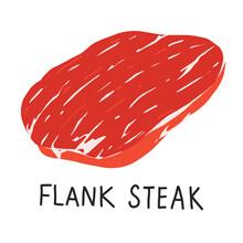 Flank Steak, Raw Meat, Uncooke...