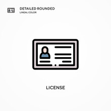 License Vector Icon. Modern Ve...