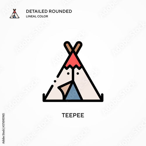 Foto Teepee vector icon