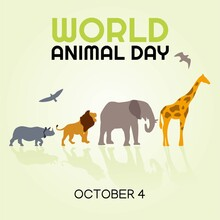 World Animal Day Vector Illust...