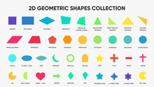 2D Geometric Shapes Collection | Vector Shapes | Colorful Shapes With Names | Shape Icons