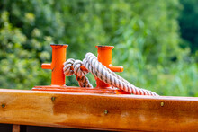 Mooring Post On A Boat