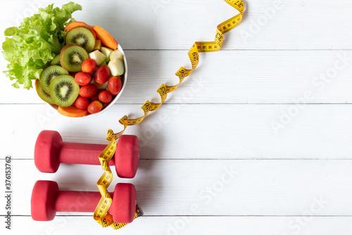 Fotografia, Obraz Diet Healthy food and lifestyle health concept