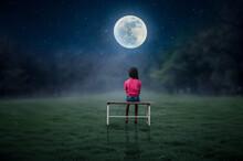 Man Sitting On The Moon