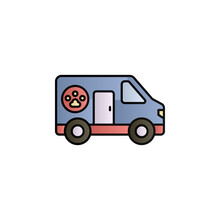 Pets, Ambulance Color Gradient Vector Icon