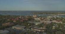 St Augustine Florida Aerial V1 Flagler College Campus And Surrounding Areas - DJI Inspire 2, X7, 6k - March 2020