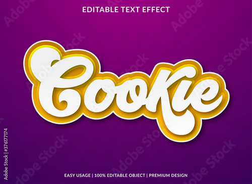 cookie text effect template design with bold font style and retro concept use fo фототапет