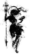 The Black Silhouette Of A Sini...