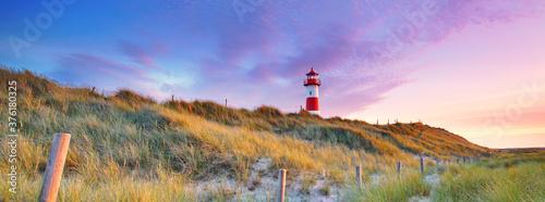 Leuchtturm Sylt Panorama Canvas Print