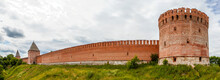 Panorama Of The Fortress Wall With The Pozdnyakov, Veselukha And Oryol Towers. Smolensk. Russia