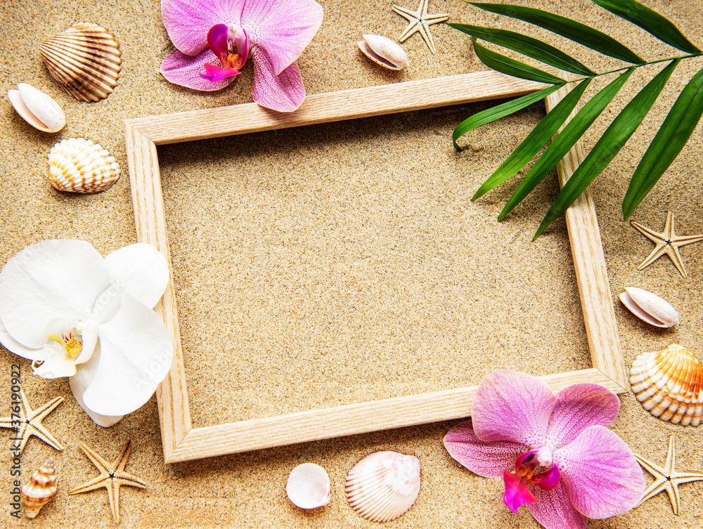 Fototapeta Summer beach decoration
