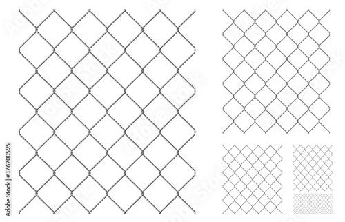 Fotografie, Obraz Realistic metal chain link fence.
