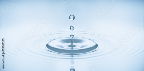 water bubbles in blue Fototapet