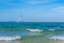 A Sunken Sailboat Off The Coas...