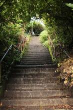 Slippery Steep Steps Of Public...