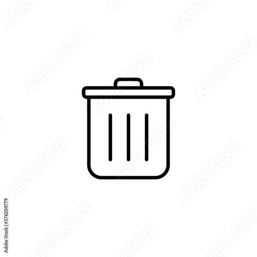Fototapety, obrazy: delete icon, Trash Icon sign and symbol vector design