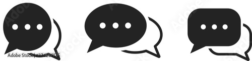Obraz Chatting or messaging bubbles with dots flat icon apps and websites - fototapety do salonu
