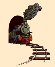 The Old Steam Locomotive Leave...