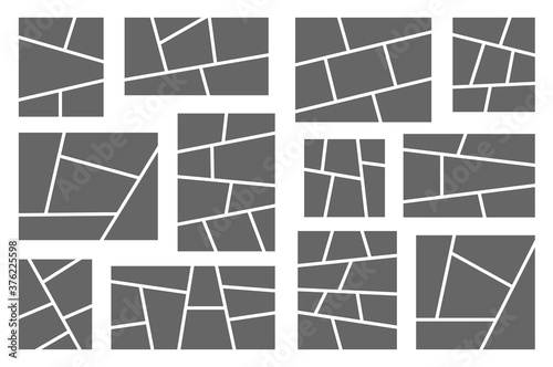 Obraz Templates collage frames for photo or comics. Vector set - fototapety do salonu