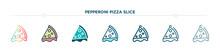 Pepperoni Pizza Slice Icon Des...