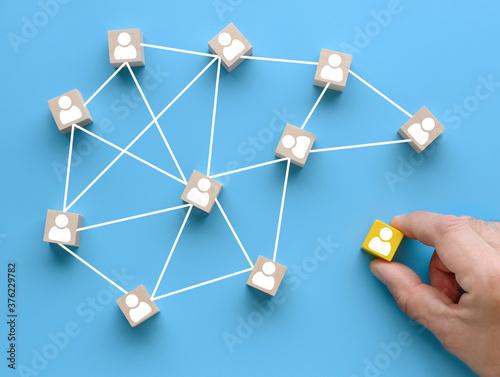 Fototapeta Creating a successful team concept. obraz