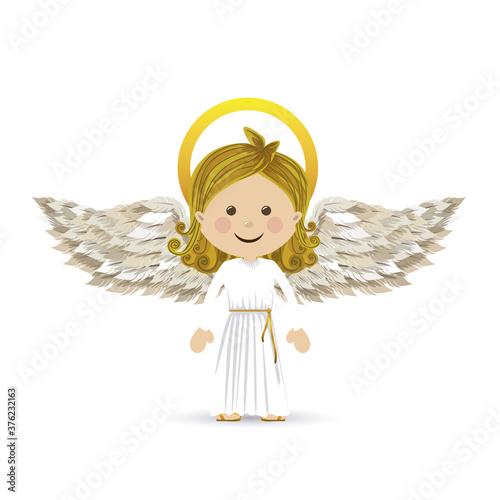 holy guardian angel Canvas Print