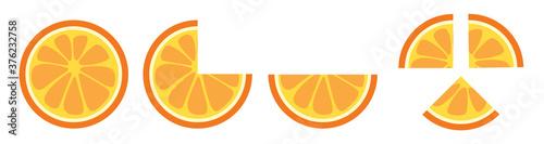 Obraz na plátně orange slice clip art vector