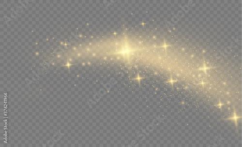 Valokuva Yellow dust, sparks.